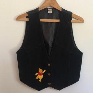 EUC Vintage 90s Suede Winnie the Pooh Disney Vest